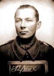 Komandor Zbigniew Przybyszewski po zatrzymaniu przez stalinowskich oprawców.