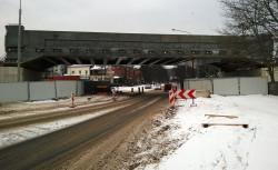 Gotowa konstrukcja wiaduktu nad ul. Polanki.