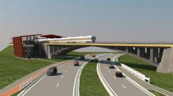 Planowany wiadukt nad ul. Słowackiego. Tuż obok powstanie stacja PKM Niedźwiednik.