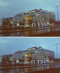 Symulacja wizualna kompleksu biurowego Olivia Business Centre w sytuacji, gdyby miały zastosowanie regulacje nowego dokumentu.