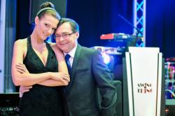 Nad prawidłowym przebiegiem balu czuwał duet prezenterów: Agata Konarska i Paweł Pochwała.