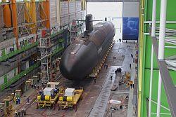 Atomowy okręt podwodny SSBN.
