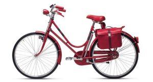 W pełni wyposażony rower, do codziennych podróży po mieście.