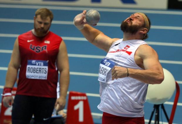 Tomasz Majewski w Ergo Arenie musiał pogodzić się z najgorszym dla sportowca, czwartym miejscem.