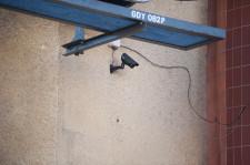 Budynek objęty jest też nadzorem kamer.