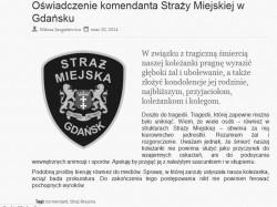 Oświadczenie władz Straży Miejskiej po śmierci Barbary K.