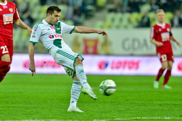 Maciej Makuszewski strzelił swoją pierwszą bramkę w barwach Lechii Gdańsk czym dał gdańszczanom prowadzenie 2:0.
