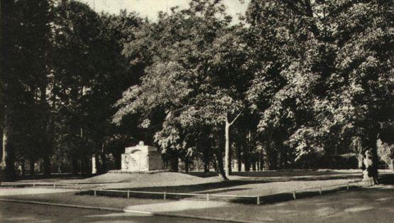 Nieistniejący pomnik w Parku Uphagena we Wrzeszczu.