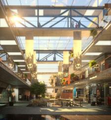 Tak wyglądać będzie wnętrze budynku handlowo-usługowego.
