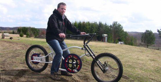 Rower typu chopper? Czemu nie. Według Wojciech Leśniewskiego, nie ma rzeczy niemożliwych, a właściwie rowerów niemożliwych do skonstruowania.