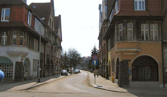 Widok głównej ulicy Kolonii Rzeszy. Dziś to ul.  ul. Kochanowskiego, wtedy Posadowsky-Weg.