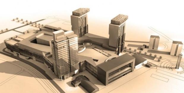 Obowiązujące pozwolenie na budowę zakłada powstanie centrum handlowego i trzech wieżowców, choć deweloper już zadeklarował, że chwilowo rezygnuje z budowy dwóch z nich.