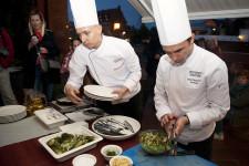 Live cooking w restauracji Kokieteria w Hotelu Hanza.