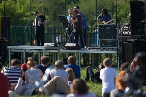 Koncert Pablopavo i Ludziki w Parku Nad Strzyżą.