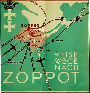 Samoloty latały do Gdańska, ale linie lotnicze reklamowały swoje połączenia jako idealny sposób na szybkie dostanie się do Sopotu.