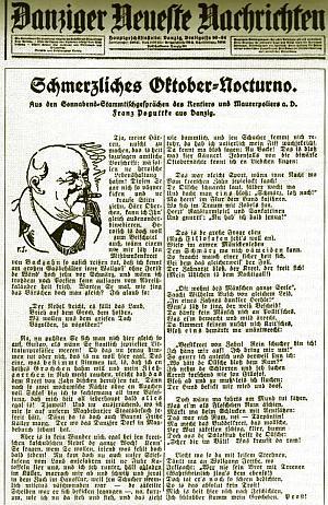 """Opowieści Franza Poguttke, jowialnego starszego pana z nieodłącznym cygarem, przyciągały do łam """"Danziger Neueste Nachrichten"""" tysiące czytelników."""