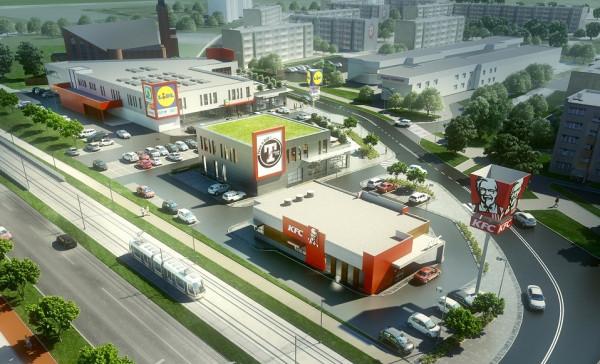 W ramach osiedlowego centrum handlowego, które powstaje przy ul. Witosa, znajdzie się siłownia Tiger Gym i bar KFC.