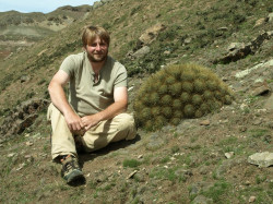 Mimo że czasami Tomaszowi Blaczkowskiemu daje się we znaki choroba wysokościowa, pasjonat przemierza górzyste tereny Ameryki Południowej w poszukiwaniu kaktusów. Powyższe zdjęcie wykonano w Boliwii.
