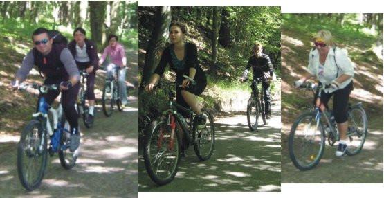 W naszych lasach jest sporo ciekawych ścieżek pod kątem wycieczek rowerowych, a wśród nich zarówno rekreacyjne jak i wyczynowe, o czym przekonali się uczestnicy naszego wypadu.