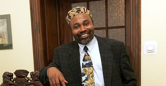 Larry Okey Ugwu w swoim dawnym gabinecie, gdy ponad 4 lata temu obejmował funkcje dyr. Nadbałtyckiego Centrum Kultury.