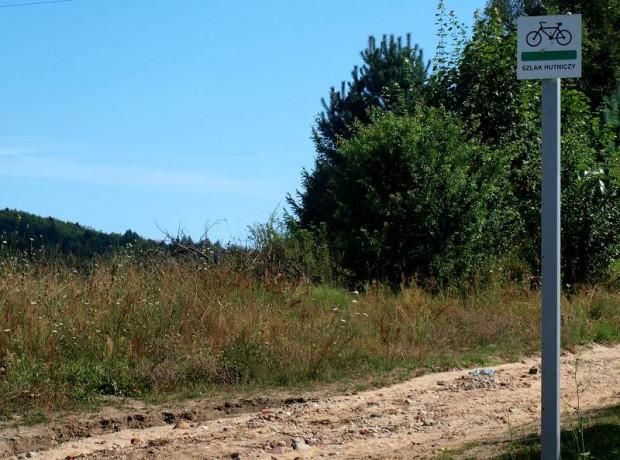 A tu widzimy już pierwsze kilometry Szlaku Hutniczego.