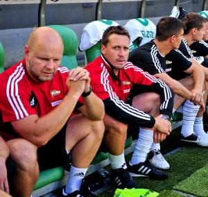 Marek Szutowicz (w środku) dbał o przygotowanie fizycznie graczy pierwszego zespołu Lechii od 2009 roku.