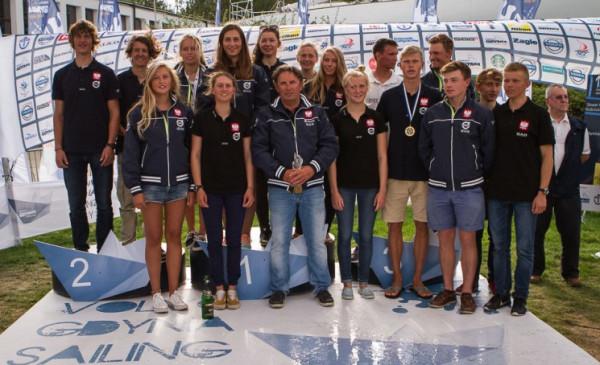 Reprezentacja Polski - zdobywcy Nation's Cup w młodzieżowych mistrzostwach kontynentu Eurosaf.