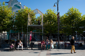 Główna część artystyczna Artloopa odbędzie się na Placu Przyjaciół Sopotu, który zmieni się na czas imprezy w ogródki działkowe.