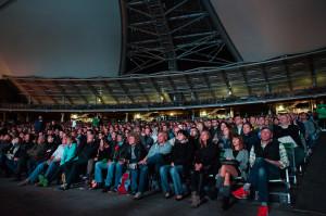 Publiczność wypełniła dolne sektory po brzegi.