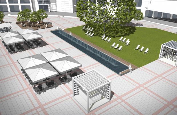 Tak ma wyglądać nowa fontanna na Placu Przyjaciół Sopotu. Jej budowa zakończyć ma się w październiku.