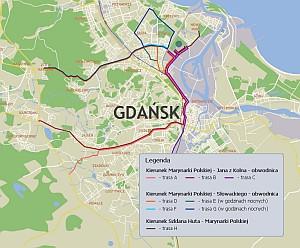 Tymi trasami ciężarówki będą wywozić z Letnicy grunt i torf do żwirowisk pod Gdańskiem.