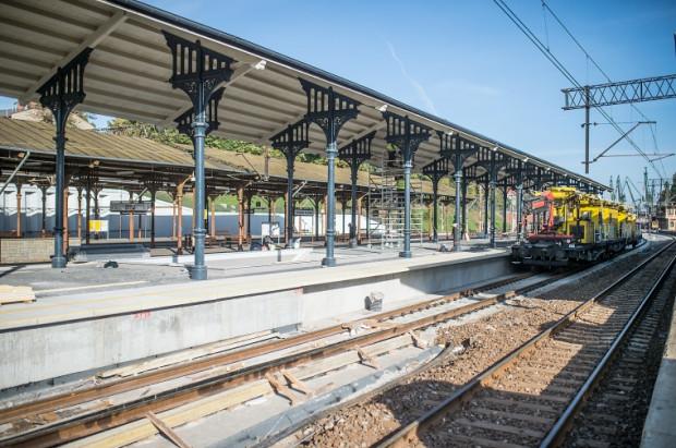 Odnowiony peron trzeci na stacji Gdańsk Główny.