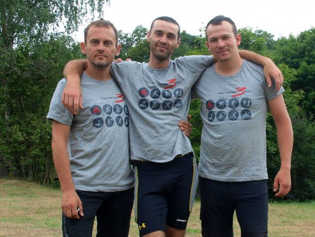 Ścisła czołówka GR3miasto, od lewej: Maciej, Łukasz i Krzysiek