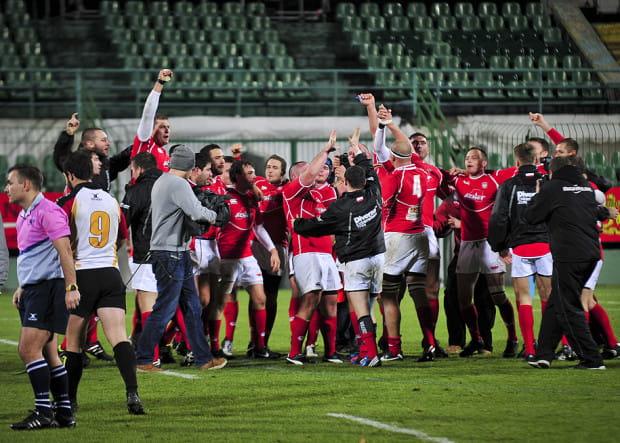 Tak w listopadzie 2012 cieszyli się w Gdańsku polscy rugbiści ze zwycięstwa nad Niemcami. Czy po sobotnim meczu w Warszawie w podobnych nastrojach będą nasi piłkarze?