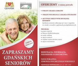 Gdańscy seniorzy mogą w skrzynce na listy znaleźć ulotki zapraszające ich na bezpłatne porady m.in. do psychiatry.