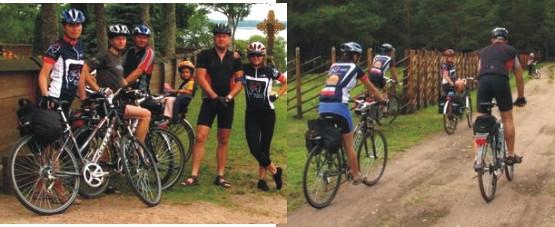 W końcu, po długiej podróży na rowerkach w Parku Narodowym Auksztosy