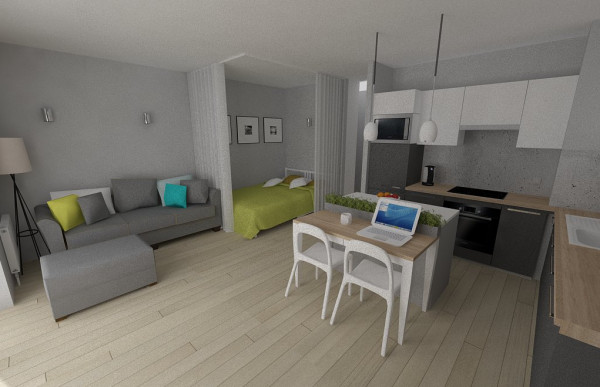 4 przykłady salon i sypialnia w jednym  Apetyczne