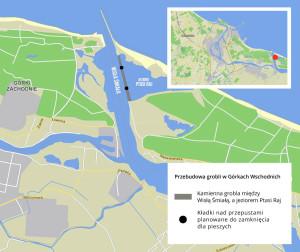 By uniemożliwić ruch pieszych, dostęp do dwóch kładek nad przepustami wodnymi zostanie zagrodzony.