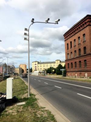 Kamery systemu Tristar ustawione na ul. Podwale Przedmiejskie w Gdańsku.