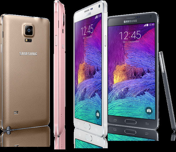 Samsung Galaxy Note 4 jest dostępny w wielu kolorach.