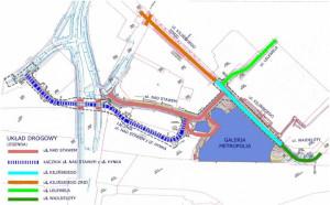 Plan rozbudowy i budowy ulic we Wrzeszczu.