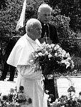 Z Janem Pawłem II na placu Solidarności. Czerwiec 1987 r.