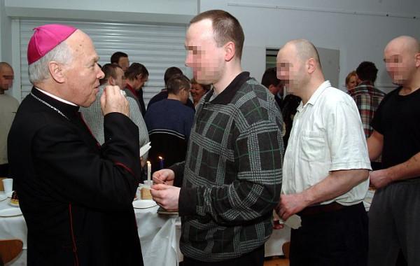 ...oraz w czasie wigilii w areszcie śledczym w Gdańsku. Grudzień 2003 r.