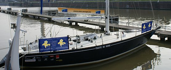 """Jacht """"Traktat Rzymski"""" na 3 dni przypłynie do Gdańska."""
