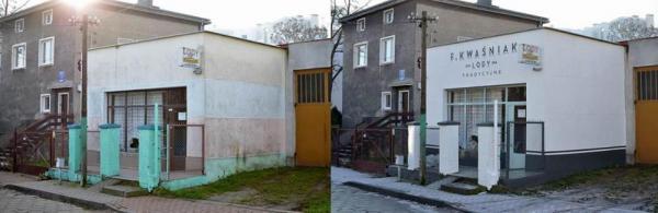 Fasada lodziarni Kwaśniak przy ul. Wąsowicza na Grabówku nawiązuje do 60-letniej historii tego miejsca. A to jeszcze nie koniec zmian.