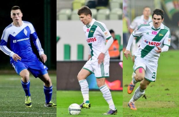 Arkadiusz Proena (pierwszy z lewej) był najlepszy w ostatnim wiosennym notowaniu Jedenastki Kolejki, Rafał Janicki (w środku) zdobył aż siedem nominacji, a Nikola Leković otrzymał najlepsze noty z piłkarzy Lechii za miniony sezon, co przełożyło się na dużą liczbę głosów w pierwszym półroczu i w tym rankingu.