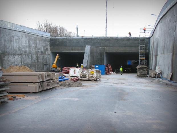 Główny wjazd do tunelu pod Martwą Wisłą od strony Węzła Marynarki Polskiej.