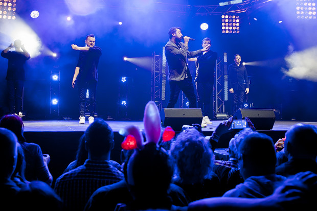 Występ grupy Boys był kulminacyjnym momentem Walentynkowej Gali Disco Polo.