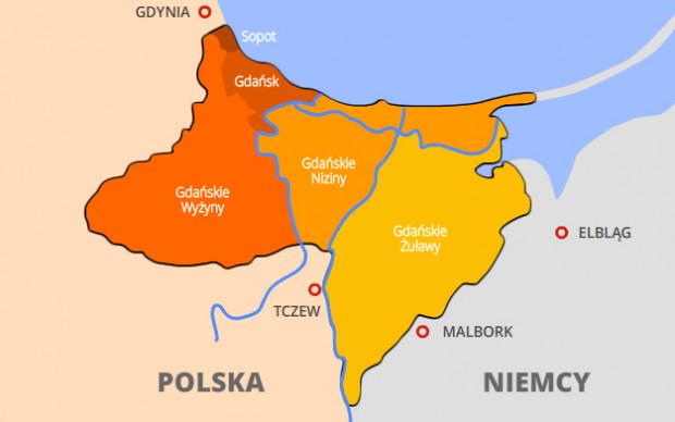 Granice i wewnętrzny podział Wolnego Miasta Gdańska 1920-39.