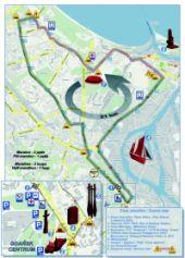 Mapa z trasą II Maratonu Sierpniowego. Zobacz, którędy pojadą rolkarze w sobotę.